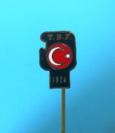 TURKEY BOXING FEDERATION - Very Old Pin Badge Boxing Boxe Boxeo Boxen Pugilato Boksen Distintivo Anstecknadel TURKIYE - Boxing