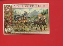 VAN HOUTEN BELLE CHROMO COURRIER ALPES POSTE SERVICE COIRE ST MAURICE SAINT CHEVAUX DILIGENCE - Van Houten