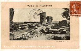 Israel - Israël - Jérusalem - Palestine -chocolaterie D´Aiguebelle Palestine Vues De Ruines De Tyr - Israel