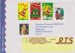 Etats-Unis - NPAI - - Noël 2001 - SUP - Etats-Unis