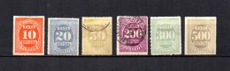 Brasil   1890  .-  Y&T Nº   10/15   Taxa - Impuestos