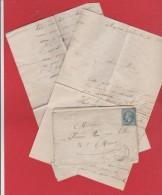 Enveloppe + Lettre  / De Villeurbanne  /  Pour Mâcon / 31 Octobre 1868 - Storia Postale