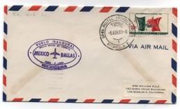 Mexico/Dallas USA FIRST FLIGHT COVER ROLLS ROYCE JET COMETA MEXICANA 1961 - Messico