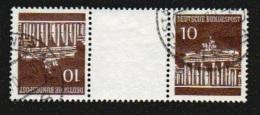 Deutschland 1968 Mi KZ6 KZ 6 506 V /Z/506 V 10 Pf Zwischensteg 10 Pf Gest Brandenburger Tor Zusammendruck Aus H-Blatt 18 - Zusammendrucke