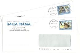 Italia 2013  Uccelli Delle Alpi 2 Valori Su Buste Commerciali - 6. 1946-.. Repubblica