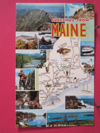 Carte Pas Très Courante - Etats Unis - Maine - Differents Aspects - Scans Recto-verso - Etats-Unis