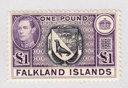 Falkland Inseln 1938 SG.#163 * 1L. Höchster Wert - Falkland