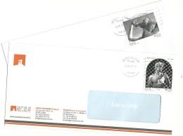 Italia 2014  Emilio Greco E Michelangelo  Su Buste Commerciali - 2011-...: Storia Postale