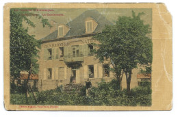 SAINT-VAURY (Creuse) Ancienne Gendarmerie Nationale - Belle Batisse - Animée - Ed. Anglade - Papier Toilé Colorisé - - Unclassified