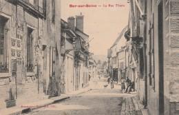 BAR SUR SEINE - LA RUE THIERS - TRS BELLE CARTE ANIMEE -  TOP !!! - Bar-sur-Seine