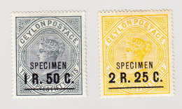 Ceylan 1899 SG#254/55s Mit Aufdruck Specimen - Ceylan (...-1947)