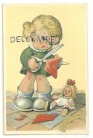 Bonne Fête. Petite Fille Couturière. Poupée, Ciseaux. CECAMI 788. 1941 - Fêtes - Voeux