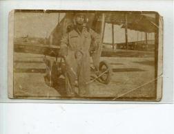 THMS2 Aviation. Photo Format 7x12 Cm Pilote Et Son Avion - Avions