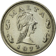 Monnaie, Malte, 2 Cents, 1972, British Royal Mint, TTB+, Copper-nickel, KM:9 - Malte