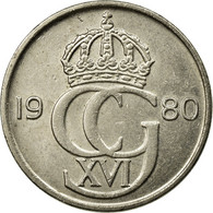 Monnaie, Suède, Carl XVI Gustaf, 50 Öre, 1980, TTB+, Copper-nickel, KM:855 - Suède