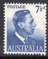 Australia GVI 1951-2 7½d Definitive, MNH (SG 251) - 1937-52 George VI
