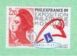 Varieté NEUF ** 2524 ** P De POSTES R De PARIS Et Légende Dégradés Variétés Philexfrance - Varieties: 1980-89 Mint/hinged