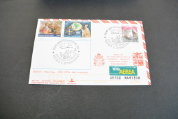 PW879- Kim Cover-Historic Philatelic Documents Of Vatican City-1991-Johannes Paulus II-Ciampino-Mantova Dispaccio Aereo - FDC