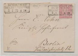 Nord Deutscher Postbezirk Beleg -Schoena   (be5927 ) Siehe Scan ! - Conf. De L' All. Du Nord