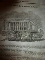 1833 LM :Le PALAIS De La BOURSE à Paris;Le Boa; L'érable ;BUFFON; La Colonne De La Grande Armée ;Agriculture En AFRIQUE - Vieux Papiers