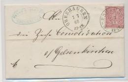 Nord Deutscher Postbezirk Beleg - Oberhausen   (be5951  ) Siehe Scan ! - Conf. De L' All. Du Nord