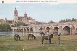 ESPAGNE---SALAMANCA---catedral Y Puente Romano--voir 2 Scans - Salamanca