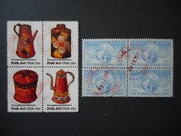 United States 1949,1979 The Universal Postal Union & Folk Art (Lot Of 2 Blocks) - Vereinigte Staaten
