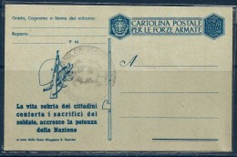 REGNO Posta Militare Cartolina Nuova - 1900-44 Vittorio Emanuele III