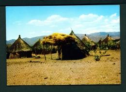 ETHIOPIA  -  Rural Village  Unused Postcard - Ethiopia