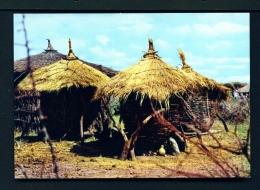 ETHIOPIA  -  Rural Grain Silos  Unused Postcard - Ethiopia