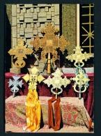 ETHIOPIA  -  Axum  Golden Coptic Crosses  Unused Postcard - Ethiopia