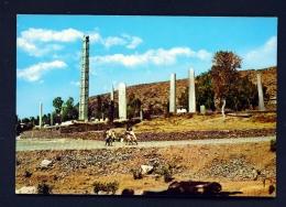 ETHIOPIA  -  Axum  Standing Stelae  Unused Postcard - Ethiopia