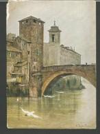 IC26--- CARTOLINE,   ROMA  -- L'ISOLA DI SAN  BARTOLOMEO, TORRE DEI CAETANI, - Roma