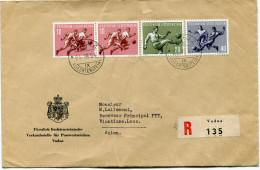 LIECHTENSTEIN LETTRE RECOMMANDEE DEPART VADUZ 25 VIII 54 POUR LE LAOS - Liechtenstein