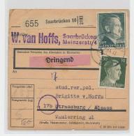 Saar -  Wert Paket Karte   (be5889  ) Siehe Scan ! - 1920-35 League Of Nations
