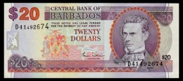 Barbados 20 Dollars 2006 P.63B VF+ - Barbados