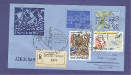 VATICAN VATICANO 1995 AEROGRAMME REGISTERED POPE JOHN PAUL II Travel To SKOCZOW (POLAND)(WITH NEWSPAPER OF EVENT) (8026 - Vatican