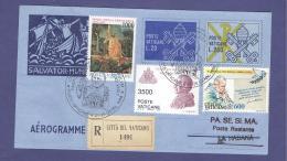 VATICAN VATICANO 1998 AEROGRAMME REGISTERED POPE JOHN PAUL II Travel To LA HABANA (CUBA) (8019 - Vatican