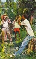 Martinique Young Men Drinking Coconut Milk