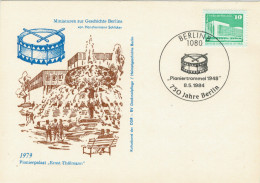 "CARTOLINA  1979   PIONIERPALAST ""ERNST-THALMANN"" - [6] Repubblica Democratica"