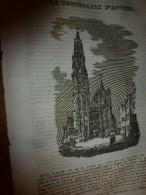 1833 LM :Cathédrale D'ANVERS; Le Figuier;Le Boeuf Et La Vache;CHATEAUBRIAND Et Sa Malle De Manuscrits Qu'il Avait Perdu - Vieux Papiers
