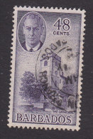 Barbados, Scott #224, Used, Cathedral, Issued 1950 - Barbados (...-1966)