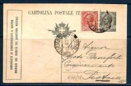 REGNO 15c Cartolina Postale Viaggiata Per Pistoia - Interi Postali
