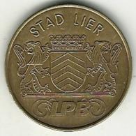 2869 Vz. Stad Lier LPB - Kz. 75 Zimmers 1988 Lierse Persbond - Jetons De Communes