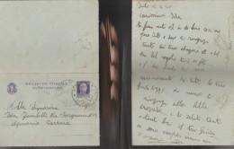4927) BIGLIETTO POSTALE DA 50 CENTESIMI COMPLETO VIAGGIATA 1940 - Interi Postali