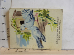 Petit Calendrier - 49 ANGERS - Besson Pharmacie - 1969 - Deux Pigeons S'aimaient D'amour Tendre ... - Petit Format : 1961-70