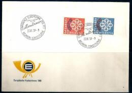 1959 SVIZZERA  Europa Cept  Busta FDC - Europa-CEPT