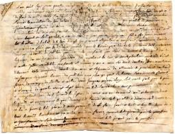 64Stm  04 Ongle Prés Banon Papier Manuscrit Type Papyrus 1787 Cachet Royal De Provence Acte De Vente Ou Autre - Manuscripts