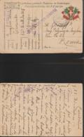 4930) CARTOLINA FRANCHIGIA TIMBRO POSTA MILITARE 61^ DIVISIONE 2° REGGIMENTO 1917 - 1900-44 Vittorio Emanuele III