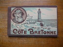 Assez Rare Ancien Bloc De 10 Cartes De La Côte Bretonne - Bretagne